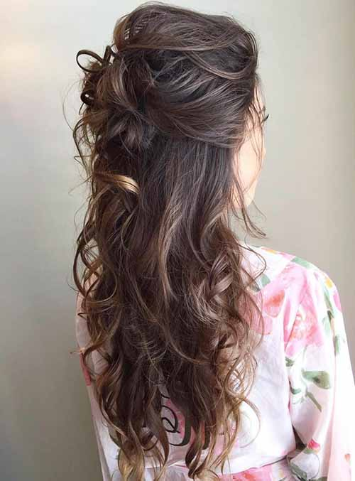7 Glorious Wedding Hairstyles On Half Up Half Down 2019 - Take A Look!